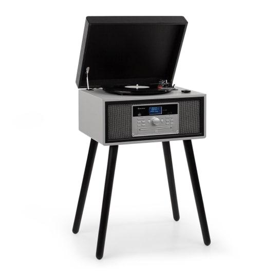 Mary Ann Turntable 33/45/78 rpm CD DAB + FM BT USB Black / Grey