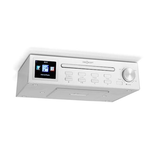 """Streamo Chef Küchenradio CD-Player BT 2,4""""HCC Display weiß"""