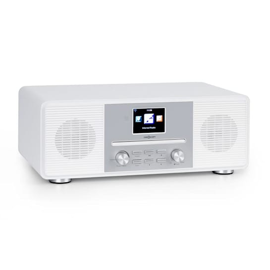 Streamo CD Internet Radio 2x10W WLAN DAB + FM CD Player BT White