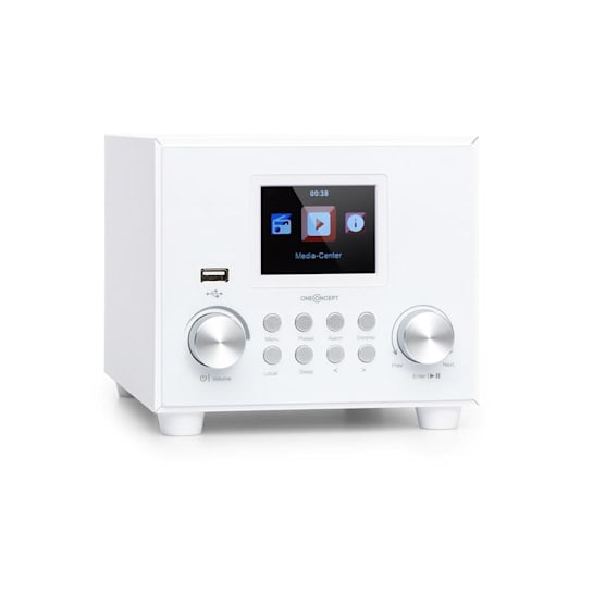 Streamo Cube Web Radio 3W & 5W RMS Wi-Fi BT bianco