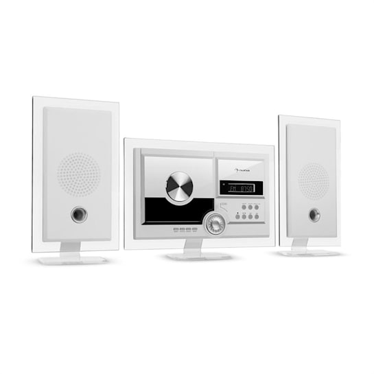 Stereo Sonic DAB + Stereo System, DAB +, CD Player, USB, BT, White