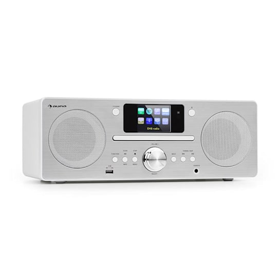 Harvard Compact System Internet / DAB + and FM Radio CD Player Bluetooth White