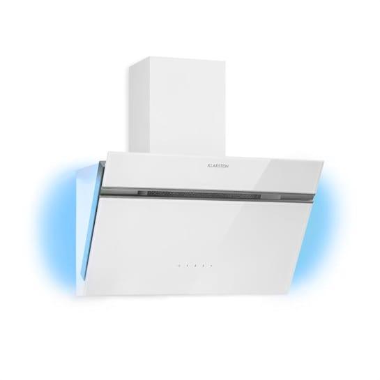 Alina, odsavač par, 600 m³/h, 60 cm, světlo, skleněný přední panel, bílý
