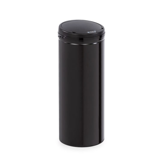 Cleanton Waste Bin Round Sensor 50 Litres for Bin Bags ABS Black