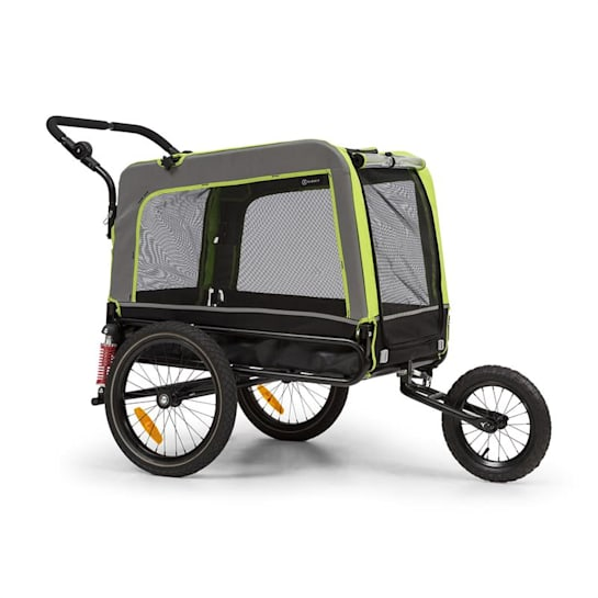Husky Vario 2-in-1 Dog Trailer Dog Buggy Approx. 240L 600D Oxford Green