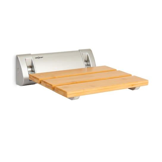 Arielle sedia da doccia bambù alluminio pieghevole 160 kg max. legno