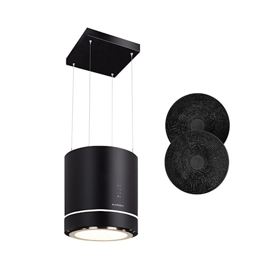 Tron Ambience Inselabzugshaube Ø38cm Umluft 540m³/h LED schwarz