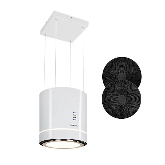 Tron Ambience Inselabzugshaube Ø38cm Umluft 540m³/h LED weiß