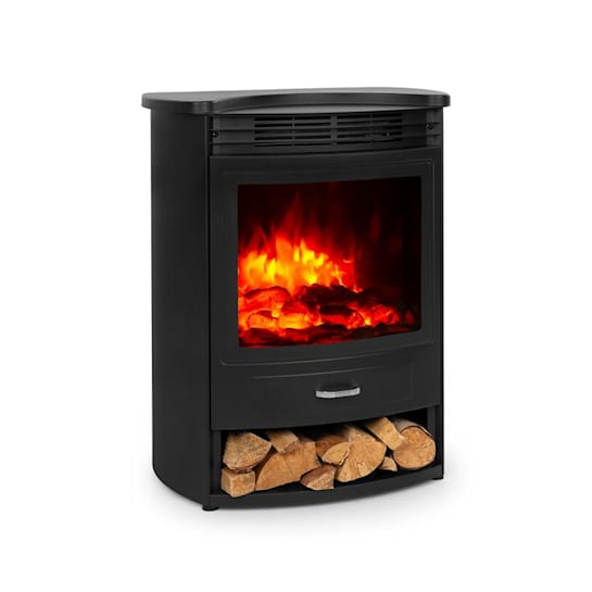 Bormio S Electric Fireplace 950 / 1900W Thermostat Weekly Timer Black