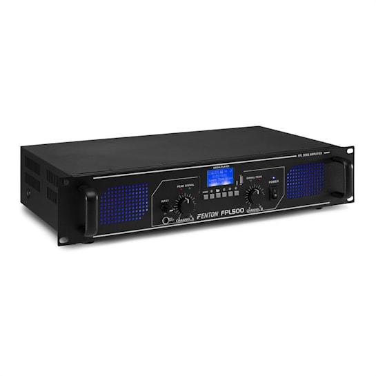 FPL500 Digitalverstärker 2 x 250Watt BT Mediaplayer USB-Port SD-Slot