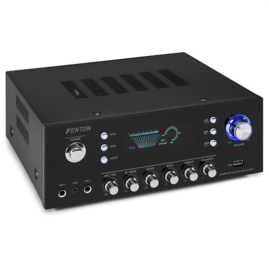 AV120FM Stereo Hi-Fi Amplifier 120W RMS (2x60W and 8 Ohm) BT / USB / AUX