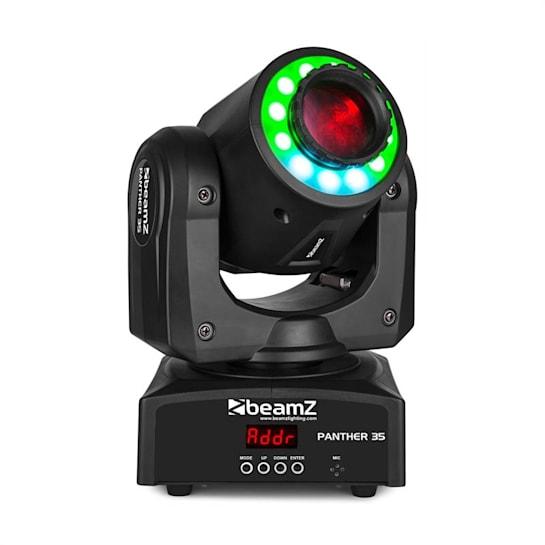 Panther 35 LED Spot Moving Head White 35W LED 12x RGB SMD LEDs Black