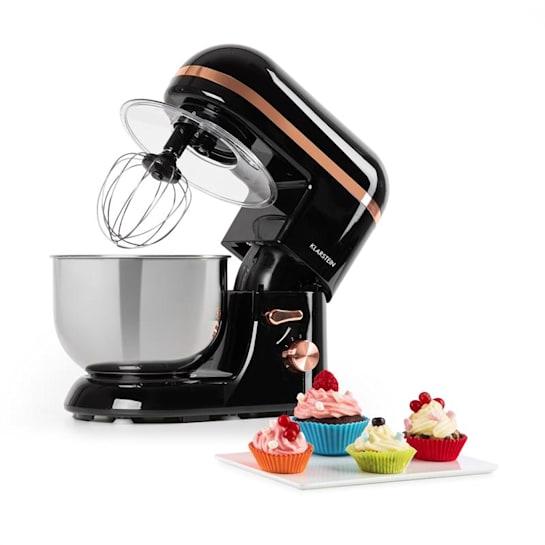 Bella Elegance Küchenmaschine 1300W 1,7PS 6 Stufen 5 Liter schwarz
