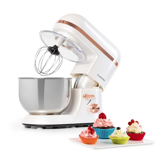 Bella Elegance Küchenmaschine 1300W 1,7PS 6 Stufen 5 Liter weiß