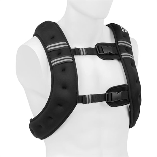 X-Vest gilet con peso da 10 kg neoprene/nylon 2 fasce toraciche nero