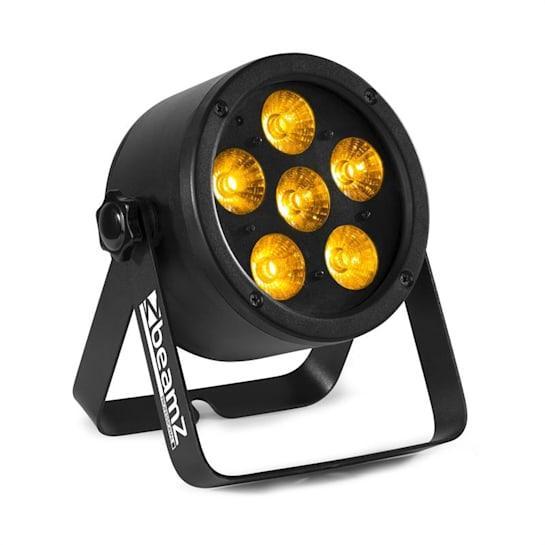 Professional BAC302, ProPar reflektor, 6 x 12 W, 6 az 1-ben LED-ben RGBWA-UV, tompítás, távirányító