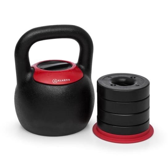 Adjustabell kettlebell regolabile peso:8/10/12/14/16 kg nero/rosso
