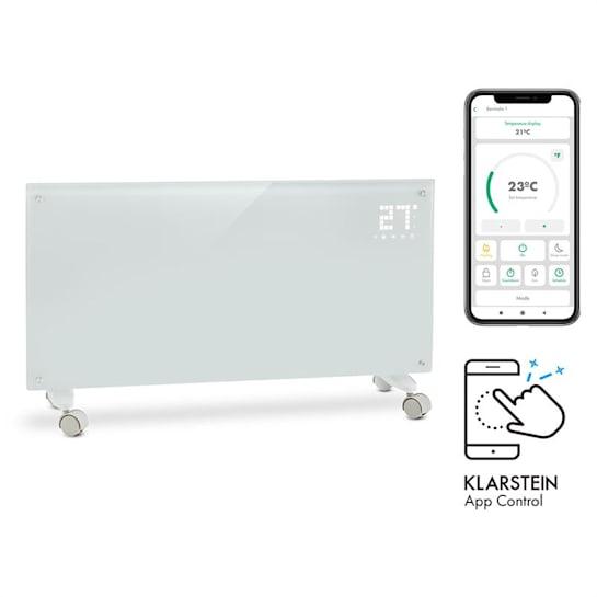 Bornholm Smart Konvektions-Heizgerät 2000W WiFi LED-Display Timer IP24 Standgerät Wandinstallation