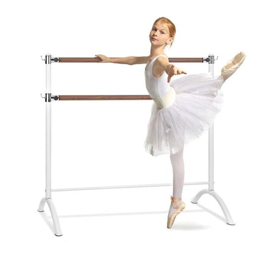 Barre Marie, dvostruka šipka za balet, 110 x 113 cm, 2 x 38 mm Ø, bijela