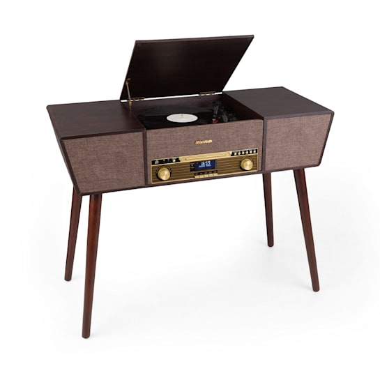 Belle Epoque 1912 Retro Turntable Record Player CD BT USB DAB + / FM Brown