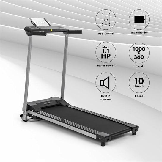 Treado Active, traka za trčanje, 1 HP, 10 km/h, 36 x 100 cm, bluetooth, touchscreen