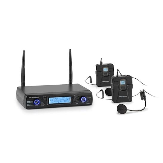 UHF200C-HB, Set Radiomicrofono UHF a 2 Canali, Ricevitore, Microfono, Trasmettitore