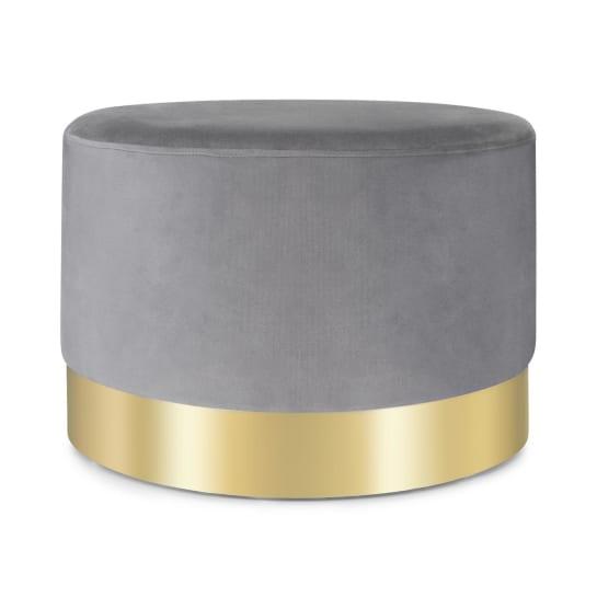 Bella pouf 35x50cm (AxØ) velluto grigio