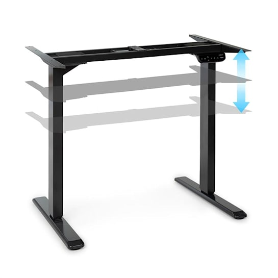 Multidesk Comfort Adjustable Height Desk Electric Black