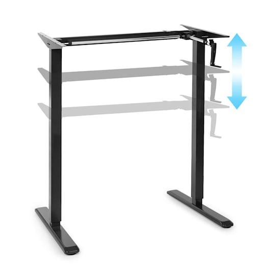 Multidesk höhenverstellbarer Schreibtisch manuell 73-123 cm Höhe schwarz
