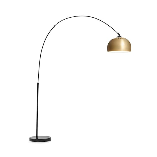 Amara Arc Lamp Gold-Plated Shade Marble Base E27 Power Cord: 2 m Gold