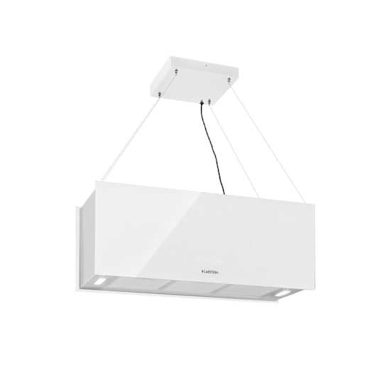 Kronleuchter XL Inselabzugshaube 90cm Umluft 590m³/h LED Touch weiß