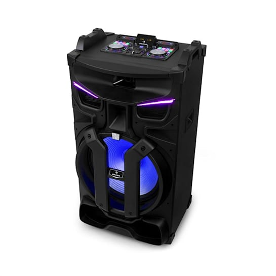 "Silhouettes party sound system 18"" altoparlante USB, SD, BT 600W nero"