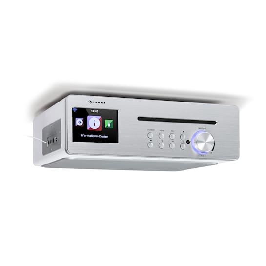 Silverstar Chef -keittiöradio 20 W max. CD BT USB internet/DAB+/FM valkoinen
