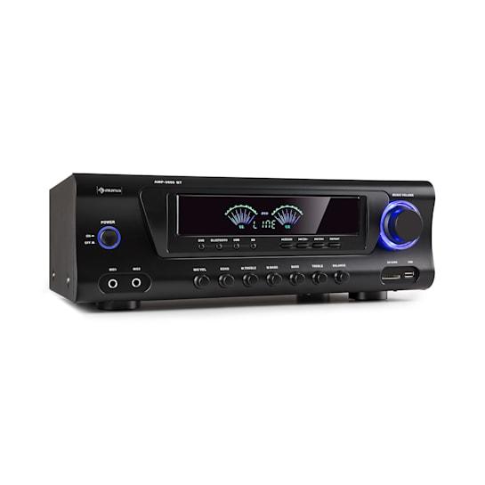 AMP 3800 BT, wzmacniacz Hi-Fi, 2 x 120 W + 3 x 50 W RMS, Bluetooth, czarny
