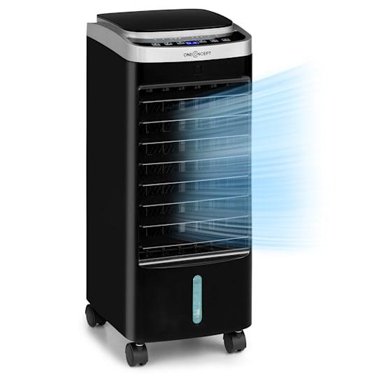 Freshboxx Pro 3-in-1 Luftkühler Ventilator Luftbefeuchter 966 m³/h | 65 Watt | 5 Liter | 3 Windstärken | 3 Modi | 120° Oszillation | mobil