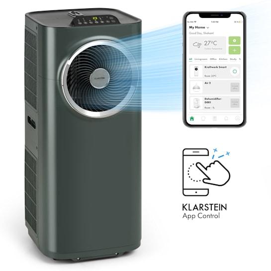 Kraftwerk Smart 10K mobile Klimaanlage 10.000 BTU/2,9 kW App-Steuerung Fernbedienung anthrazit