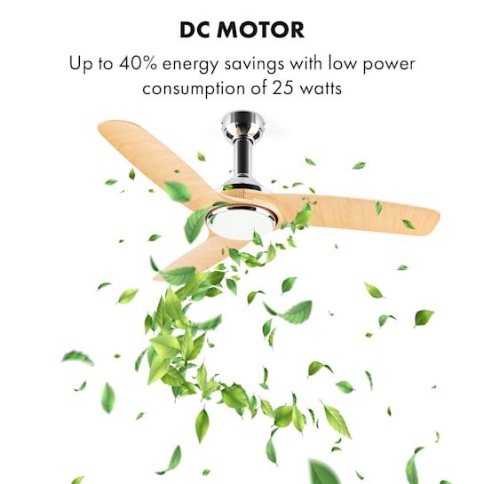 Klarstein ceiling fan with DC motor