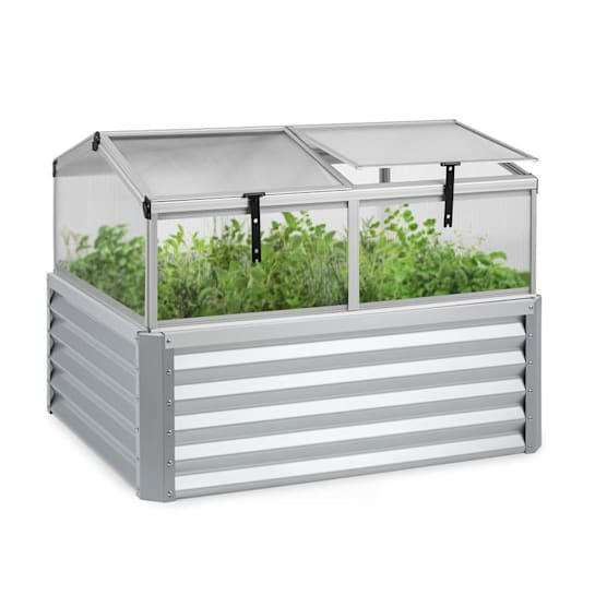 High Grow Advanced Raised Bed with Roof 120x95x100cm 540l Steel Silver