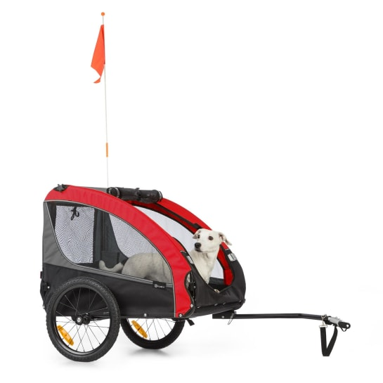 Husky Race Bicycle Dog Trailer 282L 40kg 600D Oxford Canvas Red