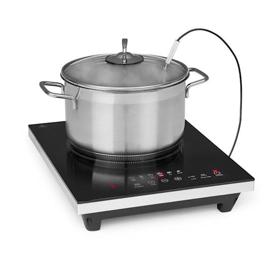 Cook n Roll, kuchenka indukcyjna jednopalnikowa, 2000W, 3h-timer, 10 stopni, czarna