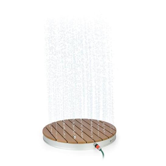 Sumatra Breeze, RD, duș de grădină, WPC, aluminiu, Ø70, 4cm, rotundă