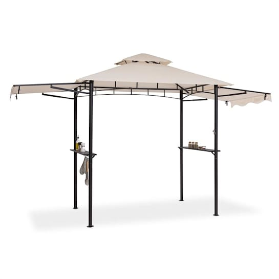 Steakhouse Wings Pavilion 244x260x152cm 160 g / m² Polyester Steel Beige