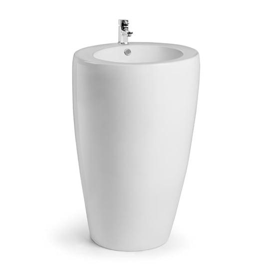 St. Lucia lavabo freestanding in ceramica montaggio a parete bianco