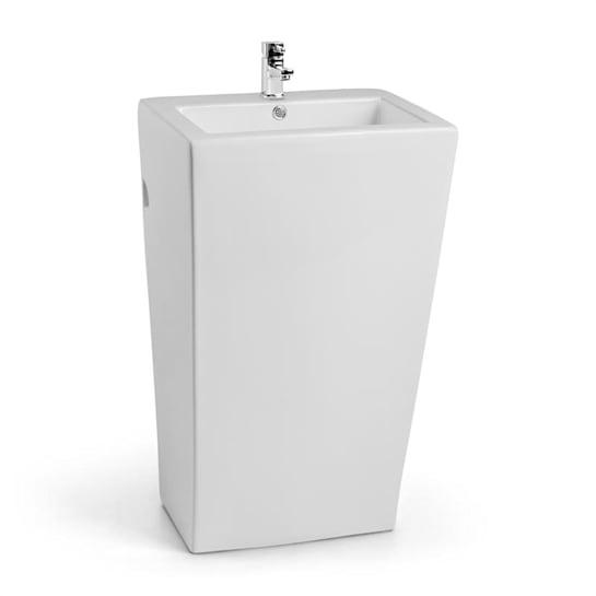 Martinique lavabo freestanding in ceramica montaggio a parete bianco