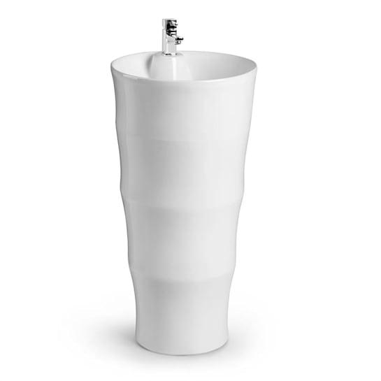 Grenada lavabo freestanding in ceramica montaggio a parete bianco