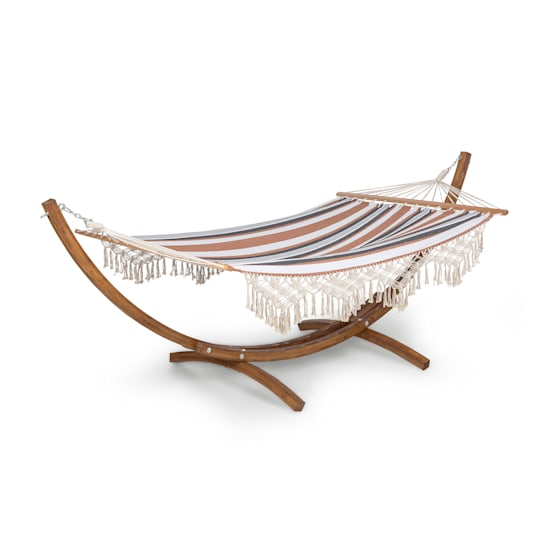 Bali Swing Hammock Larch 160kg Max. 320g / m² 3-Colour Striped