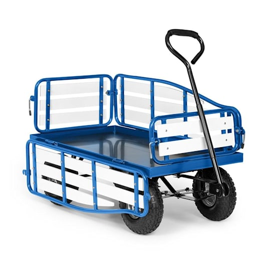Ventura Carrinho de Mão Carga Pesada 300 kg Aço WPC Azul