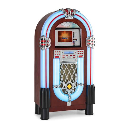 """Graceland Touch, jukebox, 12"""" dotykový ovládací panel, WLAN, CD, BT, drevený vzhľad"""