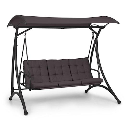 Marbella 3-Seater Swing with Dark Grey Sun Canopy