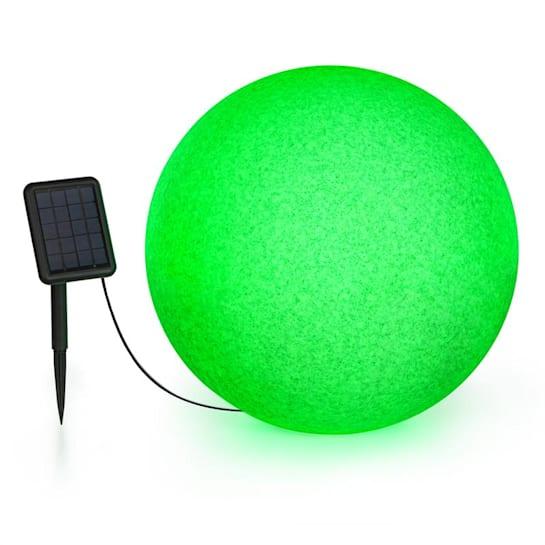 Shinestone Solar 50 Sfera Luminosa Pannello Solare Ø50cm RGB-LED IP68 Batt.